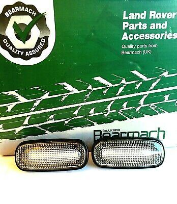 Land Rover Defender Led Style Clear Side Marker Repeater Light Set Xgb100310