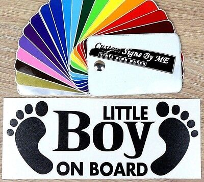 Little Boy on Board Child Baby Safety Sticker Vinyl Decal Adhesive Car Bumper B