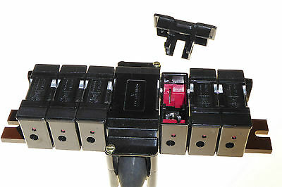 20 Amp 6 Way fuse bank GEC Alsthom SCFB206 Safeclip SC20 240V BS88 6 fuse holder