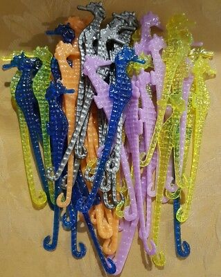Bulk Pack Swizzle Sticks Mixed Coloured Seahorses Ex Pub Stock x 50 Party Pack