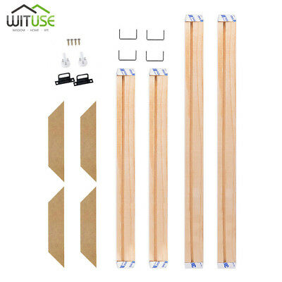 Wooden Canvas Stretcher Bars Frames Strip for Print Oil Painting Art DIY 20-60CM