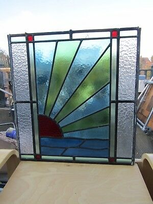 Stained Glass window panel 1930s (?)~collection frm Epsom.