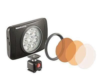 Manfrotto S.p.A. Manfrotto MLUMIEMU-BK Luce LED, 8 Lumimuse