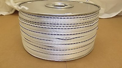 """5/8"""" x 500'  1800# tensile polyester detectable pull tape, mule tape, webbing"""