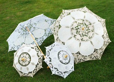 Lace Embroidered Sun Parasol Umbrella Bridal Wedding Dancing Party Photo Props
