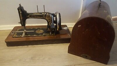 Rare Antique Sewing Machine J.D Williams & Co Hand Crank boxed, Germany Made