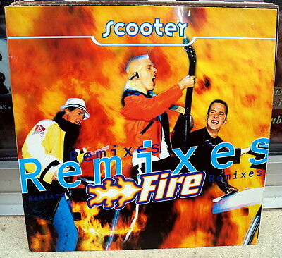 """Scooter """"Fire (Remixes)"""" RARE 1997 2track 12"""""""