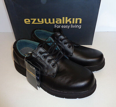 Mens Leather Black Lace Up Shoes Casual Formal Office Loafers UK Sizes 8-13