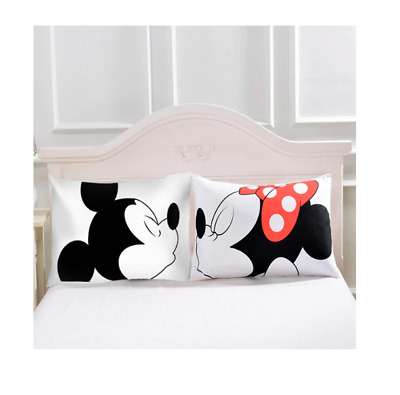 Brand New Mickey & Minnie Mouse Disney Pillow Case Cushion Home Decor Bedding