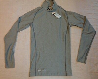 Nwot Under Armour Cold Gear Mock Base Layer,small Men Compression,l/s Shirt,gray