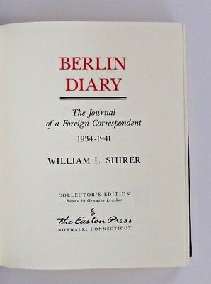 Berlin Diary 1934-1941 - Easton Press Collector's Edition Bound Genuine Leather