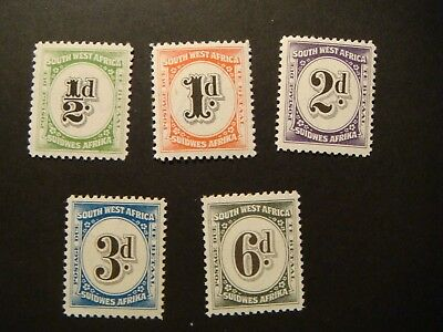 South West Africa.Postage Due J86-90.1931.MNH