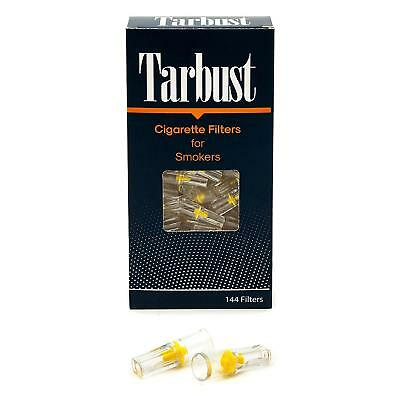 2 Packs Disposable Cigarette Filters Reusable Block Tar & Nic 288 Total Tarbust