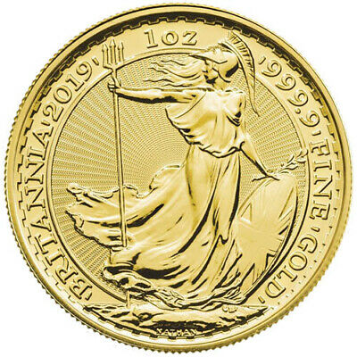 2019 1 oz British Gold Britannia Coin (BU)
