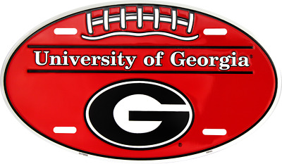 Georgia Bulldogs Car Truck Tag Oval Football License Plate Sign University