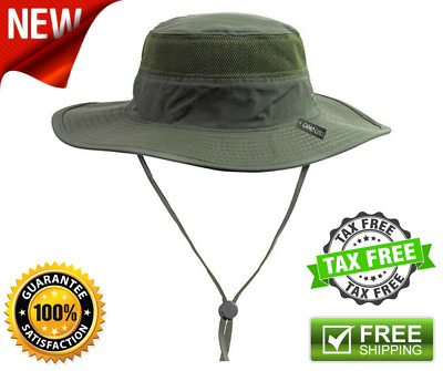2af5b90421550 Camo Coll Outdoor UPF 50+ boonie Hat Summer Sun Caps Army Green One Size