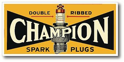 Champion Vintage Man Cave Super High Gloss Outdoor 6 Inch Decal Sticker