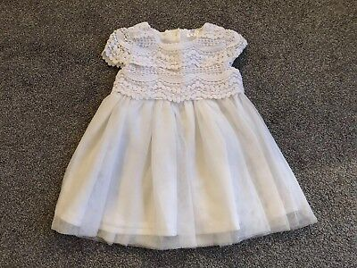 White Party Dress 3-6 Months