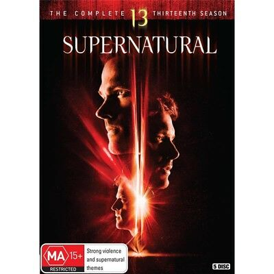 SUPERNATURAL-Season 13-DVD-Region 4-New AND Sealed-5 Disc Set-TV Series