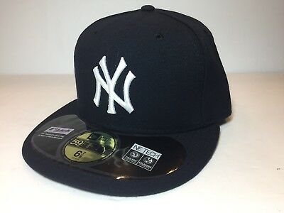 NEW ERA New York YANKEES GAME 59FIFTY Fitted Cap MLB On Field Hat 6 7/8