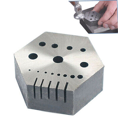 "Hexagonal Steel Riveting Anvil Block 7/8"" Thick Jewelry Watchmakers, Craftsman"