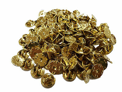 Brass Clutch Back Butterfly Pinback Guards Clasp MADE IN USA Pkg 100 PCS