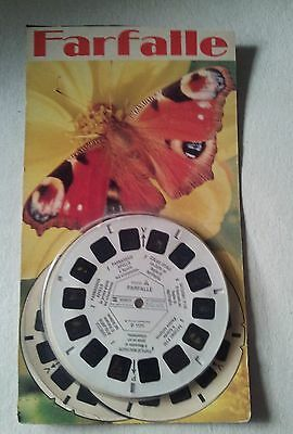 viewmaster 1973 vintage Farfalle D-1171 blisterato
