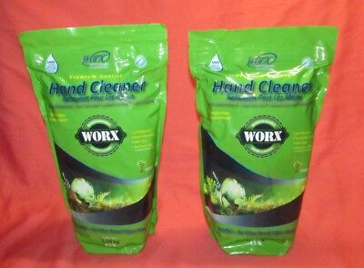 2 Bags = New = Worx Hand Cleaner = 4.5 Lb. Bag = Biodegradable Premium Quality