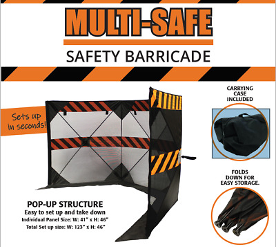 Multi-Safe, Portable Safety Barricade & Debris Containment (w/ carrying case)