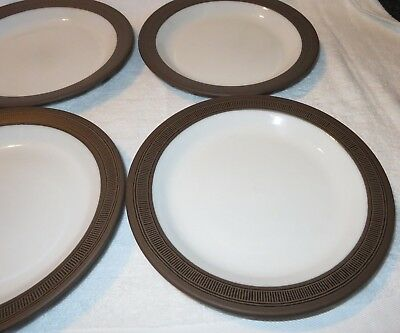 Hornsea Pottery 1976 Palatine 4 X Dinner  Plates 10 Inches Diameter - Contrast