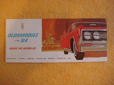 1964 Oldsmobile Small Brochure - Where the Action Is!