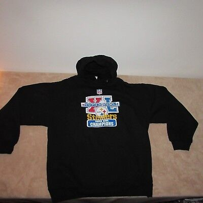 Pittsburgh Steelers Hoodie Men's Large Hooded Sweatshirt New Super Bowl