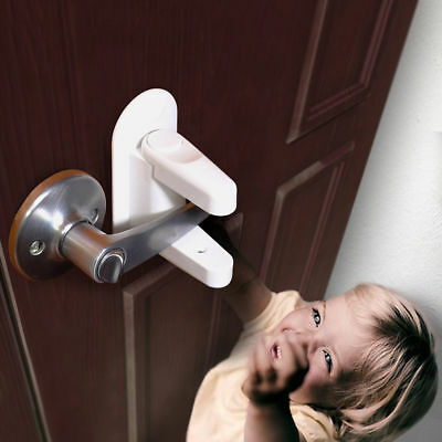 Handles Adhesive Child Safety Tools And Door Lever Lock Child Proof Doors 2pcs