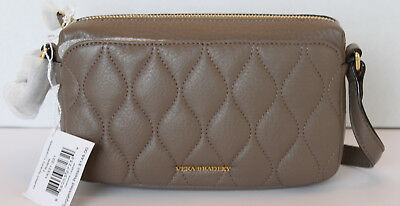 88097787ae23 VERA BRADLEY QUILTED Leather Sydney Crossbody Bag Taupe NWT -  48.00 ...
