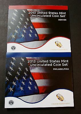 2013-P+D Uncirculated Mint Set Sealed In Mint Plastic Both Philly & Denver  *a-1