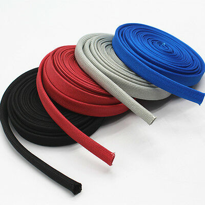 Vulcan Heat Protector Woven Sleeve Colorful Spark Plug Wire High temp 1200F 25ft