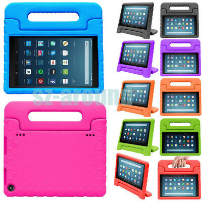 Kids Shock proof Handle Eva Form Case Cover for Amazon Kindle Fire HD 8 6th 7th