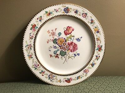 Antique Hammersley 14072 Hand Paint Gold Raised Floral Dresden Dinner Plate