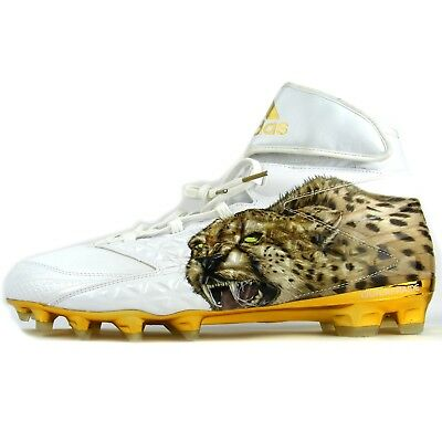 new product d7872 ae715 Adidas AQ7828 Freak X Carbon High Uncaged Cheetah Football Cleats White  Gold, 14