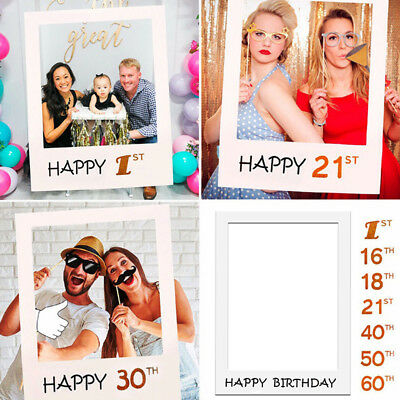1PC Wedding Supplies Party Frame Birthday 1st/16/18/21/30/40/50/60th Photo Props