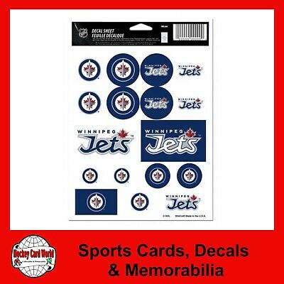 "(HCW) Winnipeg Jets Vinyl Sticker Sheet 5""x7"" Decals NHL Licensed *FREE SHIP"
