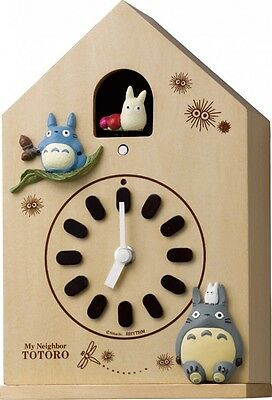 My Neighbor Totoro Wall Clock Wooden Frame Rhythm clock With Tracking Japan