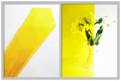 "60"" Yellow Solar Tint Film Decorative Window Glass Film Self-adhesive Sticker"