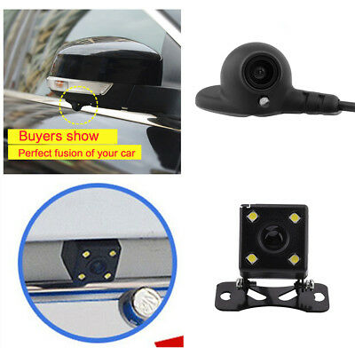 HD Car Side View & Rear View Cam Blind Spot Camera Waterproof Night Vision DC12V