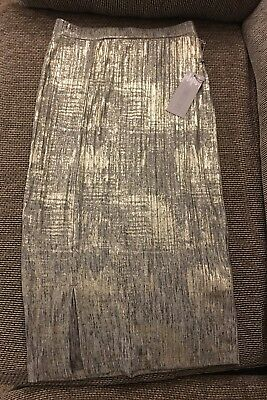 1abf4abd0b29ce Jennifer Lopez Women s Extra Small XS Shimmer Skirt Christmas NWT Gold  Silver