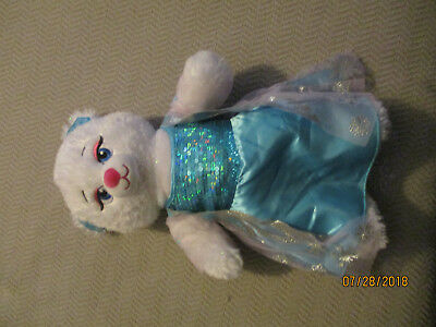 "BABW Build-a-Bear Frozen Elsa Soft Plush Stuffed Animal Doll Toy 17"" w/ Dress"
