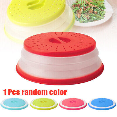 Collapsible Microwave Plate Cover Lids for Food Dish Splatter Shield Guard