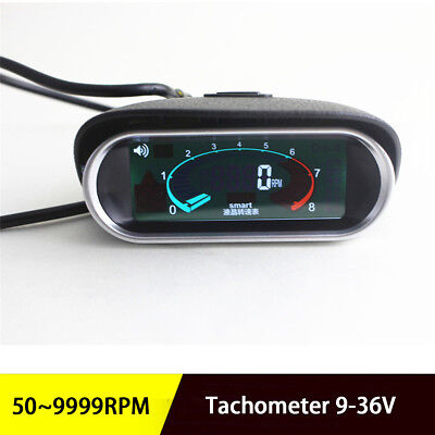 LCD Digital Engine RPM Tach Tachometer For Boat Car Truck Racing  Universal
