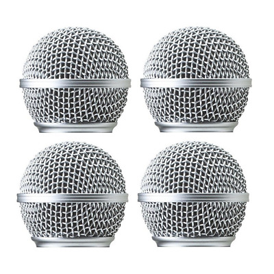 4 PCS  Microphone mic Grille Replacement Fit for Shure SM58 Grille Cover RK143G