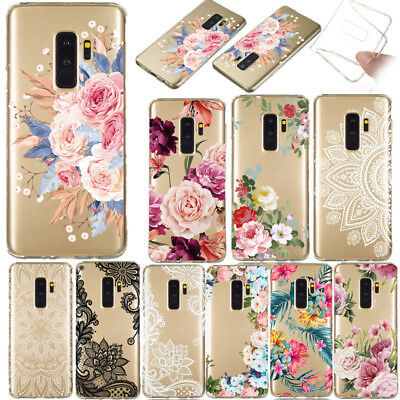 For Samsung Galaxy S9+ S8 S10 Plus Slim Soft Silicone Clear Painted Case Cover